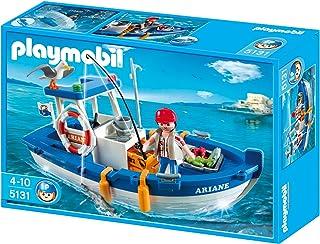 PLAYMOBIL - Barco de Pesca, Set de Juego (5131