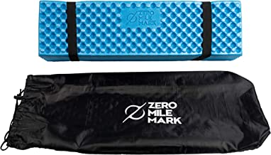 Zero Mile Mark Compact Foam Camping Mat Sleeping Pad Mattress for Tent – Lightweight and Damp Resistant – Includes Packing Bag for Hiking, Outdoor Camping and Mountaineering