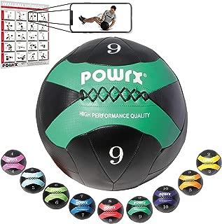 POWRX Wall-Ball I 2-10 kg I - Balón Medicinal Colores I