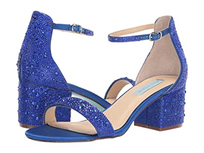 Blue by Betsey Johnson Mari Heeled Sandal (Bright Blue) Women