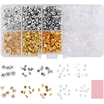 50 x Replacement Clear Soft Plastic Earring Backs Caps 5mm Bullet UK Seller