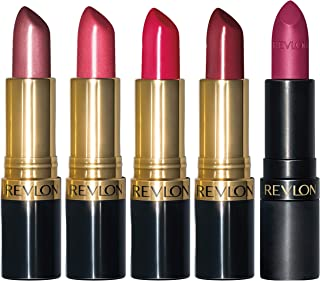 REVLON Super Lustrous Lipstick, 5 Piece Multi-finish Lipcolor Gift Set, in Cream Pearl & Matte, Pack of 5