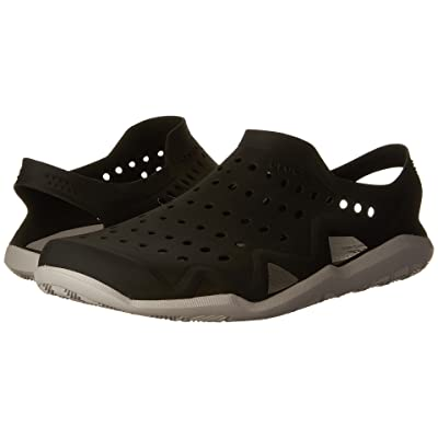 Crocs Swiftwater Wave (Black/Pearl White) Men