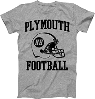 Vintage Football City Plymouth Shirt for State New Hampshire with NH on Retro Helmet Style