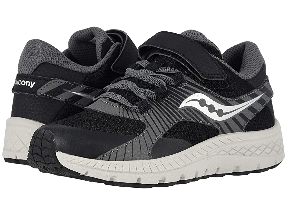 Saucony Kids S-Velocer A/C (Little Kid/Big Kid) (Black) Boys Shoes