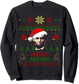 Abraham Lincoln Merry Abemas Funny Christmas Sweatshirt