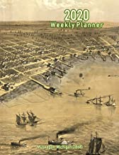 2020 Weekly Planner: Muskegon, Michigan (1868): Vintage Panoramic Map Cover