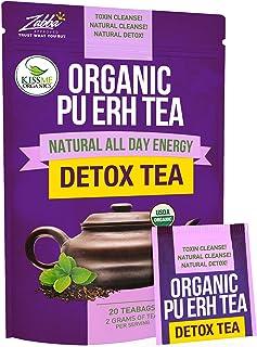 Sponsored Ad - Organic Puerh Detox Tea - Premium Quality Fermented Puerh Tea - Energizing, Detoxifying and Delicious - Age...