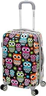Rockland Vision Hardside Spinner Wheel Luggage, Owl, Carry-On 20-Inch