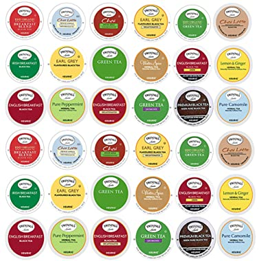 TWININGS K CUPS Tea Sampler Box - 36 COUNT - Variety Sampler Pack for Keurig K-Cup Brewers - Twinings English, Black, Green, Chai, Herbal, Decaffeinated Tea and more - Gift for Tea Lovers