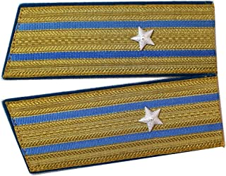 Set of Soviet USSR Russia Air Force ORIGINAL Major Parade Shoulder Boards Epaulets (gold red, with stars)