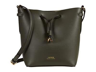 LAUREN Ralph Lauren Debby II Crossbody (Deep Olive/Porcini) Handbags
