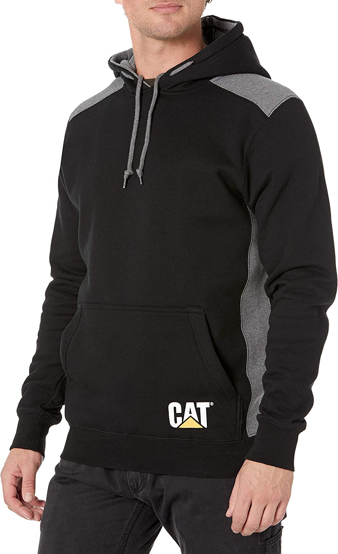 Caterpillar Challenge the lowest price of Japan Popular brand ☆ Men's Logo Panel Hooded Big and Regular Sweatshirt