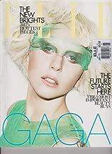 ELLE FASHION MAGAZINE UK MONTHLY JANUARY 2012, LADY GAGA COVER.