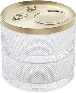 Umbra Jewelry Box, Brass,