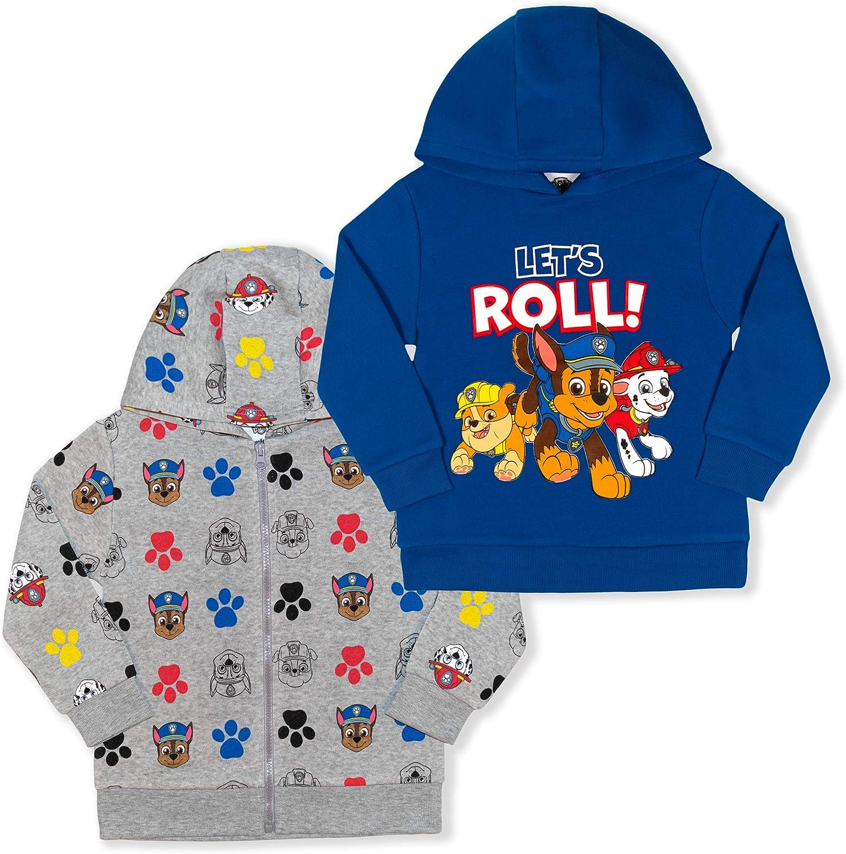 Nickelodeon Boy's 2-Piece Paw Patrol Pullover Hoodie and Full Zip Hooded Jacket Set