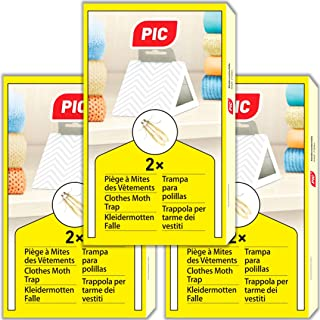 comprar comparacion PIC - 6X - Trampa para polillas de la Ropa - remedio contra Las polillas de la Ropa, Adecuado para la protección de Toda l...