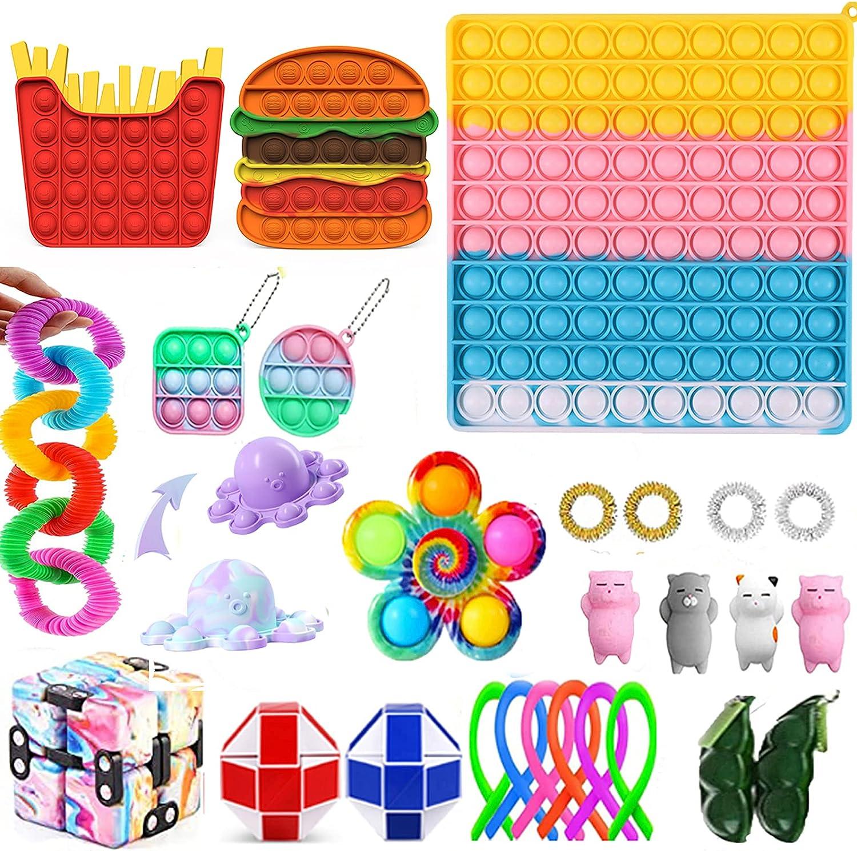 Cheap Fidget Packs Anti-Anxiety Toys Set Block Pop Stres 5 ☆ very popular Washington Mall