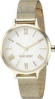 Nine West Reloj de pulsera de malla para mujer