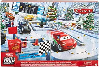 Disney Pixar Cars Minis Advent Calendar, One A Day Storytelling Racecar Accessories and Surprises, Holiday Gift, Family Ch...