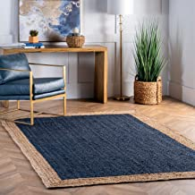 nuLOOM Eleonora Hand Woven Accent Jute Rug, 2' x 3', Blue
