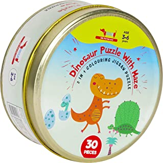 CocoMoco Dinosaur Jigsaw Puzzle- 3-in-1 Dinosaur Puzzles Activity Box- 30 Pieces- Educational Learning Toy- Birthday Retur...