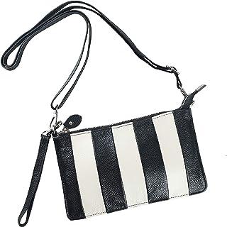 Women Leather Wristlet Clutch Wallet, Small Shoulder Crossbody Bag Purse