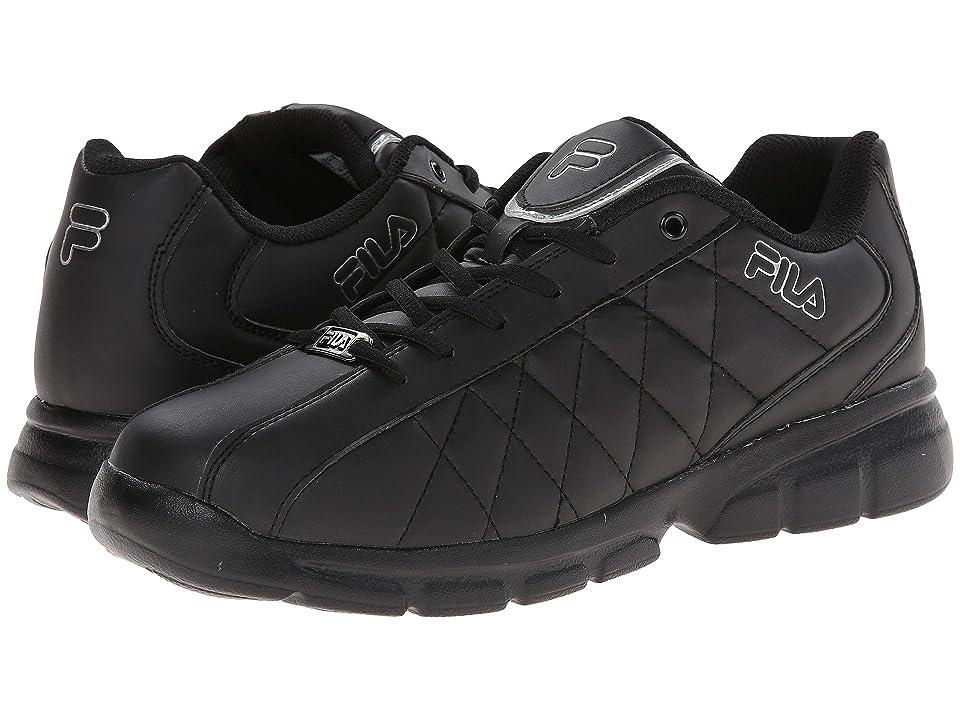 Fila Fulcrum 3 (Black/Black/Metallic Silver) Men
