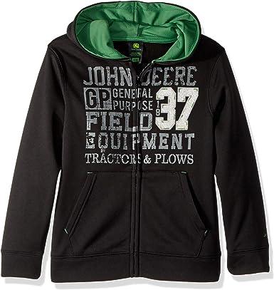 John Deere Baby-Boys Fleece Zip Poly Hoody Hooded Sweatshirt
