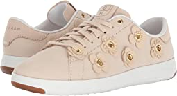 Brazilian Sand Nubuck/Brazilian Sand Leather Flowers/Optic White