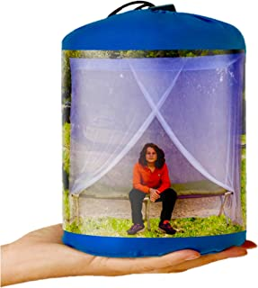 EVEN NATURALS Luxury Mosquito Net for Bed Canopy, Tent for Single to Twin XL, Camping Screen House, Finest Holes: Mesh 380, Square Netting Curtain, Easy to Install, Hanging Kit, Storage Bag