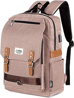 Fashion Laptop Backpack for Women Men, Vintage School College Backpack with USB Charging Port