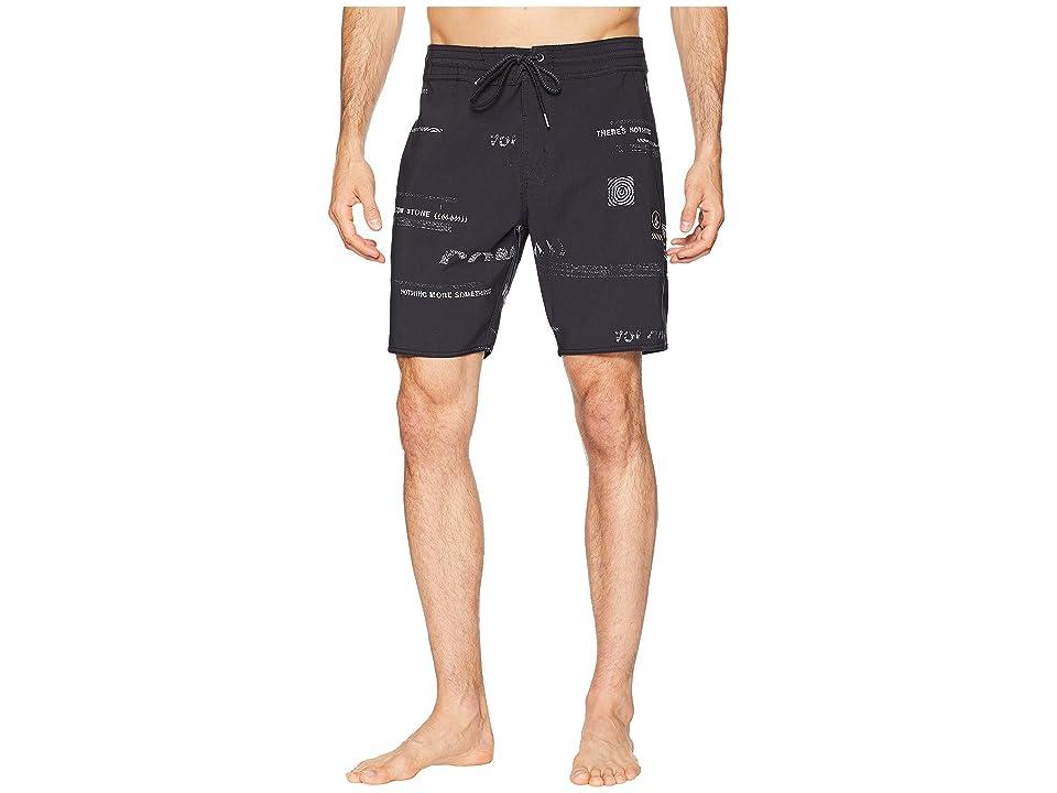 Volcom Nothing More Stoney Boardshorts (Black/White) Men