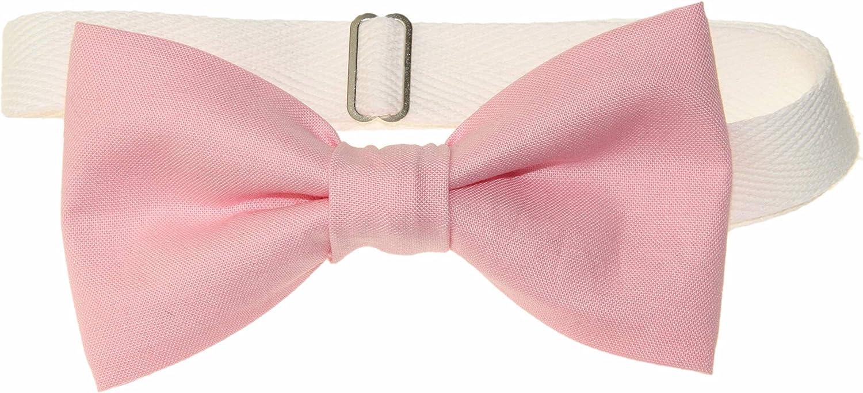 Men's Peony Pink Pre-Tied Cotton Adjustable Bow Tie