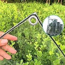 Tarp-dekzeil Transparant Zeildoek Met Doorvoertules, Dikker, Regendicht Plastic Doorzichtig Zeildoek, Duurzame PVC-pergol...