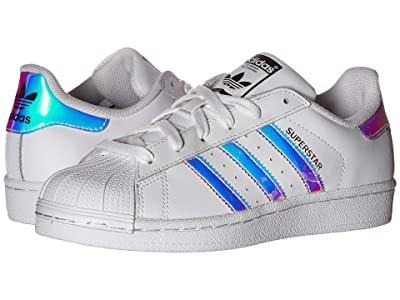 adidas Originals Kids Superstar Metallic J (Big Kid) (White/Metallic Silver) Girls Shoes
