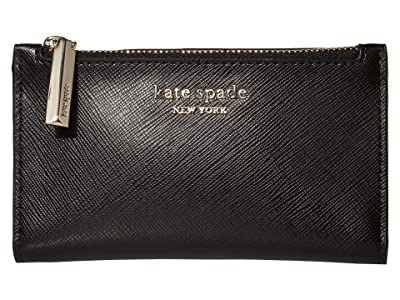 Kate Spade New York Spencer Small Slim Bifold Wallet (Black) Wallet
