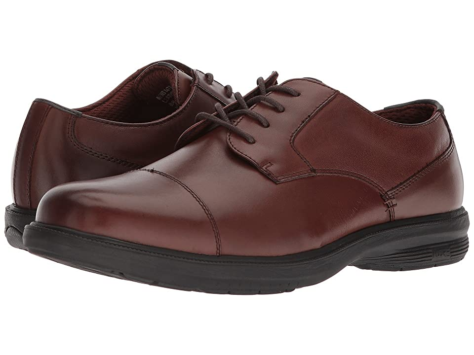 Nunn Bush Melvin Street Cap Toe Oxford with KORE Slip Resistant Walking Comfort Technology (Brown) Men