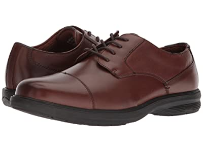 Nunn Bush Melvin Street Cap Toe Oxford with KORE Slip Resistant Walking Comfort Technology (Brown) Men