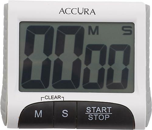 ACCURA ACC5013WH Digital Kitchen Timer 99 Minute 59 Seconds - White