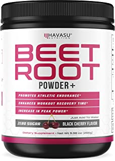 Havasu Nutrition Beet Root Powder with Patented, Organic PeakO2 & Mushroom Blend-..