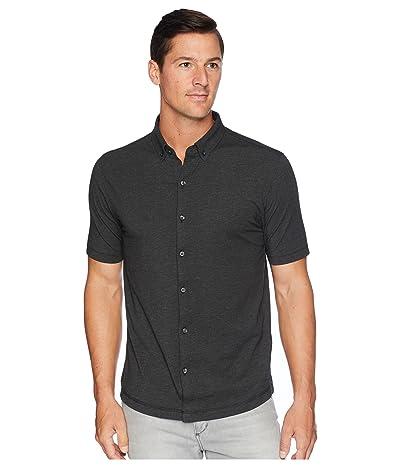 Linksoul LS1184 Anza Heathered Button-Down Shirt (Black Heather) Men