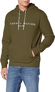 Tommy Hilfiger H Sudadera con Capucha, Cordón, Logo y Bolsillo Canguro para Hombre