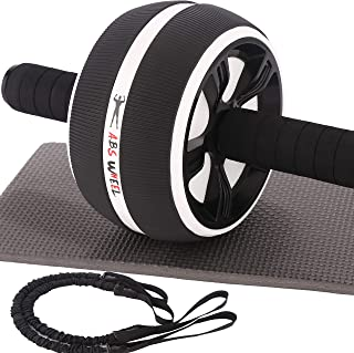 AlexBasic Ab Roller for Abs Core Workout Ab Roller Wheel Exercise Equipment with Resistant Band Ab Wheel for Home Gym