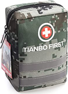 120 Pieces First Aid Kit, Tactical Trauma Kit Reflective Stripe, Ideal Camping, Survival, Hiking, Rescue Camouflage