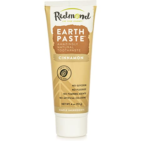 Redmond Earthpaste - Natural Non-Fluoride Toothpaste, 4 Ounce Tube (1 Pack, Cinnamon)