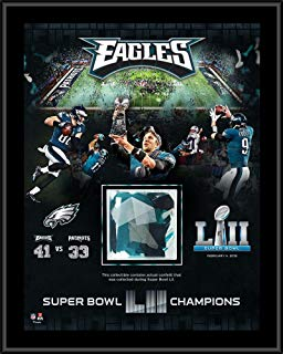 "Philadelphia Eagles Super Bowl LII Champions 12"" x 15"" Sublimated Plaque with Game-Used Confetti - NFL Team Plaques and Collages"