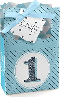 1st Birthday Boy - Fun to be One - First Birthday Party Favor Boxes - Set of 12