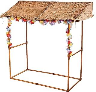 Tabletop Tiki Hut Bar Stand - Luau Party Decor