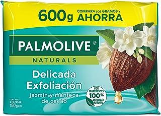 Palmolive Naturals Jabón en Barra, Jazmin y Manteca de Cacao, 150 g, 4 Cuentas